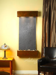 Cascade Springs: Black FeatherStone and Rustic Copper Trim with Squared Corners