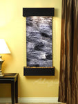 Cascade Springs: Black Spider Marble and Blackened Copper Trim with Squared Corners