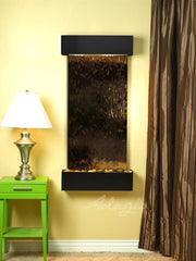 Cascade Springs: Bronze Mirror and Blackened Copper Trim with Squared Corners