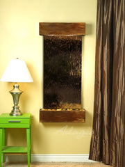 Cascade Springs: Bronze Mirror and Rustic Copper Trim with Squared Corners