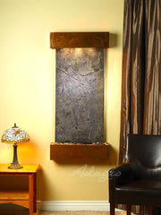Cascade Springs: Green FeatherStone and Rustic Copper Trim with Squared Corners