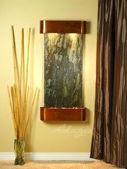 Cascade Springs: Green Slate and Rustic Copper Trim with Rounded Corners