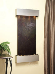 Cascade Springs: Multi-Color FeatherStone and Stainless Steel Trim with Squared Corners