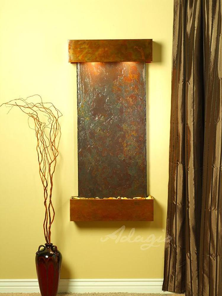 Cascade Springs: Multi-Color Slate and Rustic Copper Trim with Squared Corners