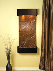 Cascade Springs: Rainforest Brown Marble and Blackened Copper Trim with Rounded Corners