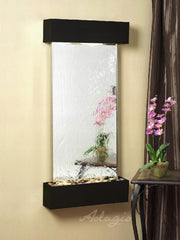 Cascade Springs: Silver Mirror and Blackened Copper Trim with Squared Corners