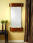 Cascade Springs: Silver Mirror and Rustic Copper Trim with Rounded Corners