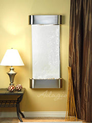 Cascade Springs: Silver Mirror and Stainless Steel Trim with Rounded Corners