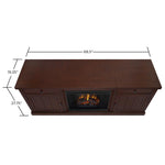 Cassidy Entertainment Center With Electric Fireplace in Chestnut Oak - Soothing Company
