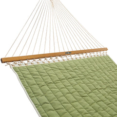 Pawleys Island Large Quilted Fabric Hammock in Cast Moss - Soothing Company
