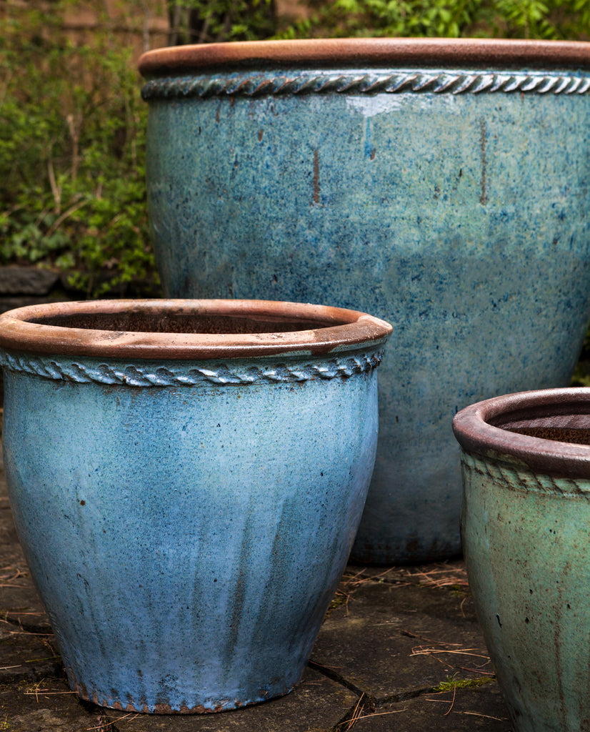 Chandor Planter Set of 4 in Rustic Blue - Soothing Company