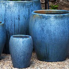 Chantal Planter Set of 4 in Blue Pearl - Soothing Company