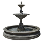 Charleston Outdoor Fountain in Basin - Soothing Company