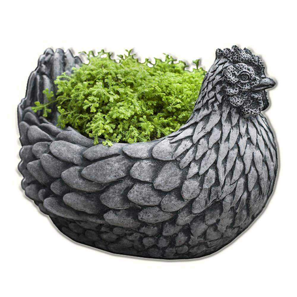 Chicken Cast Stone Garden Planter - Soothing Company