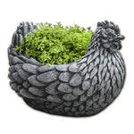 Chicken Cast Stone Garden Planter
