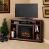 Churchill Corner Electric Fireplace in Dark Espresso - Soothing Company