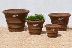 Classic Rolled Rim Garden Planters - Soothing Company