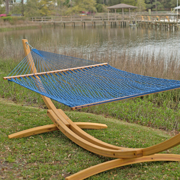 Presidential Original DuraCord Rope Hammock - Coastal Blue -Soothing Company