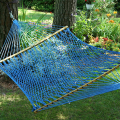 Pawleys Island Large Original DuraCord® Rope Hammock in Coastal Blue - Soothing Company