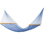 Presidential Size Original DuraCord® Rope Hammock in Coastal Blue - Soothing Company