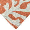 Liora Manne Capri Coral Border Coral Area Rug - Soothing Company