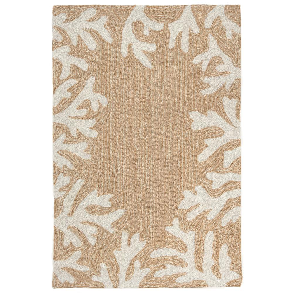 Liora Manne Capri Coral Border Neutral Area Rug - Soothing Company