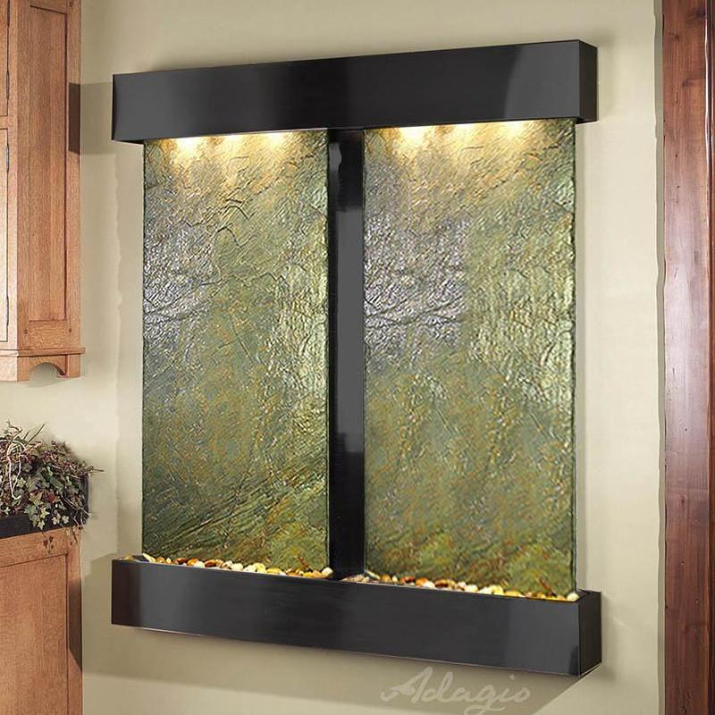 Cottonwood Falls: Green Slate and Blackened Copper Trim with Squared Corners