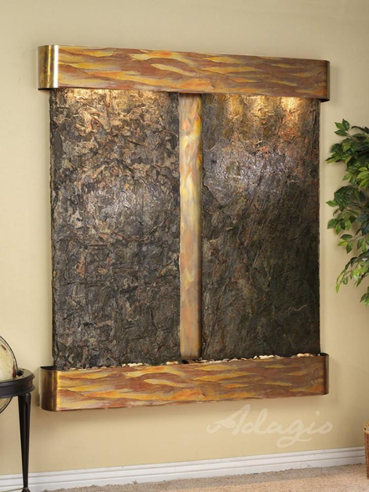 Cottonwood Falls: Green Slate and Rustic Copper Trim with Rounded Corners
