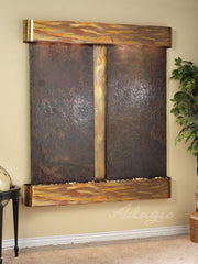 Cottonwood Falls: Multi-Color Slate and Rustic Copper Trim with Rounded Corners