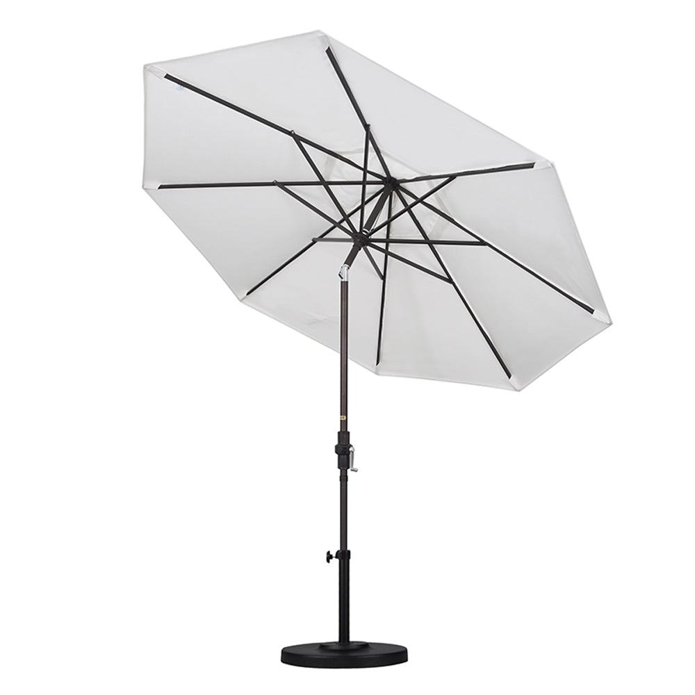 California 9' Patio Umbrella with Crank Lift and Collar Tilt - Soothing Company