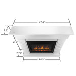 Crawford Slim Series Electric Fireplace in White Finish - Soothing Company
