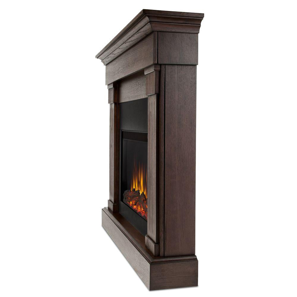 Crawford Slim Series Electric Fireplace in Chestnut Oak Finish - Soothing Company