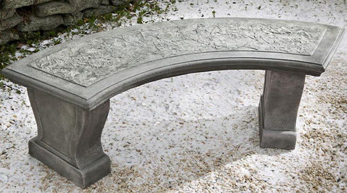 Curved Leaf Garden Bench