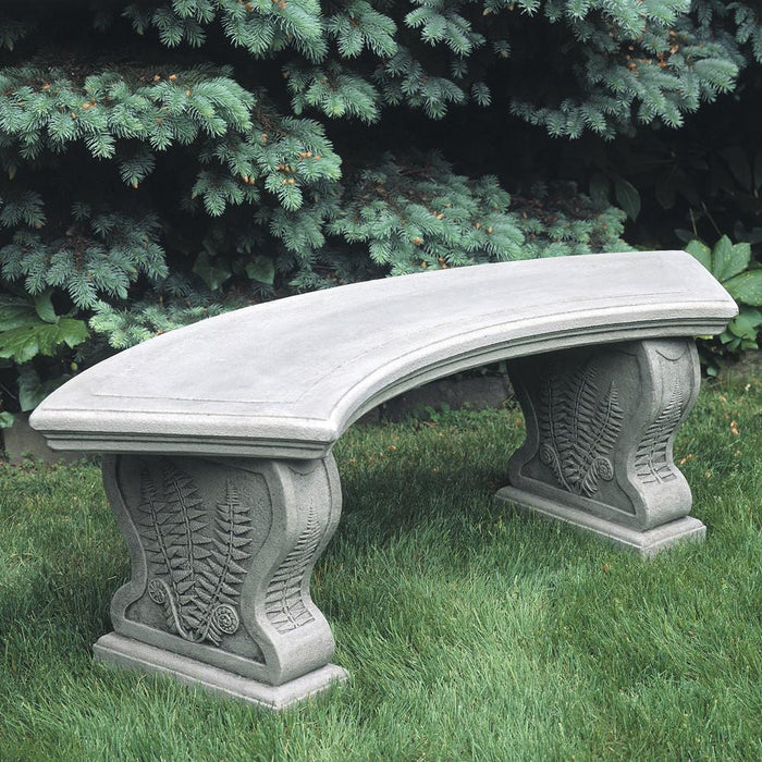 Curved Woodland Ferns Bench - Soothing Company