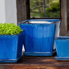 Darcy Planter Set of 6 in Caribbean Blue - Soothing Company