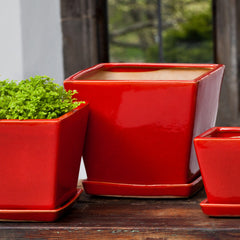 Darcy Planter Set of 6 in Fire Red - Soothing Company