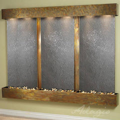 Deep Creek Falls: Black Featherstone and Rustic Copper Trim with Squared Corners