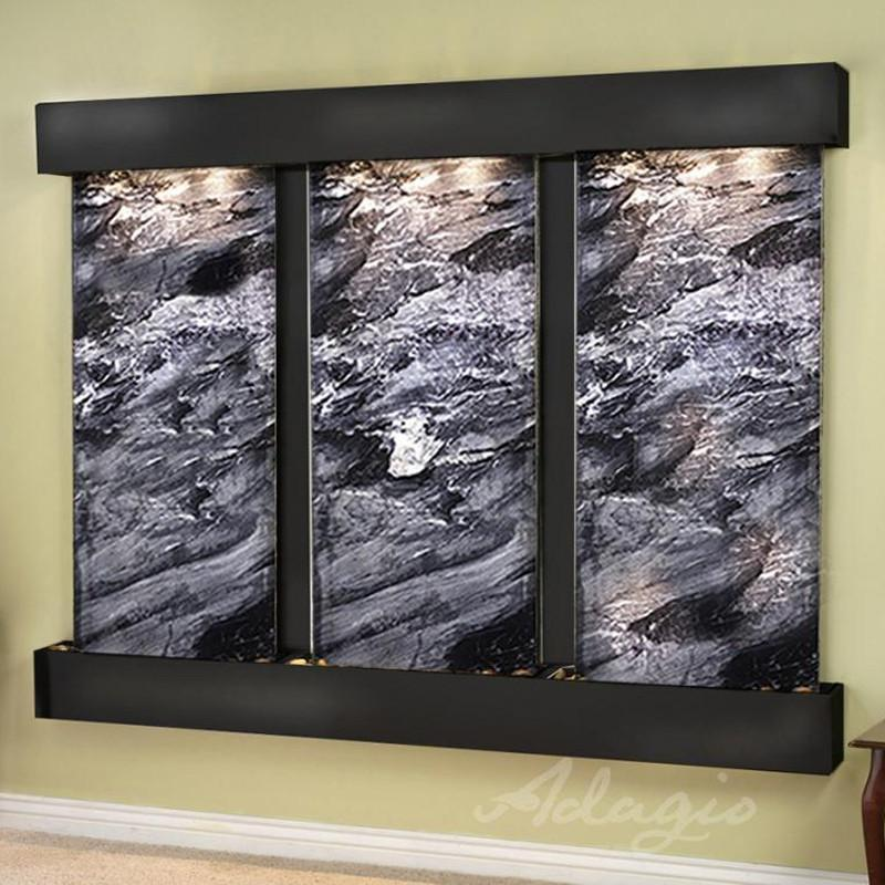 Deep Creek Falls: Black Spider Marble and Blackened Copper Trim and Squared Corners