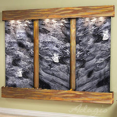 Deep Creek Falls: Black Spider Marble and Rustic Copper Trim with Squared Corners