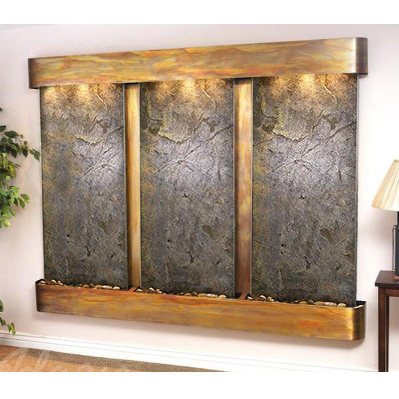 Deep Creek - Green FeatherStone - Rustic Copper - Rounded Corners - Soothing Walls