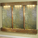 Deep Creek Falls: Green Slate and Rustic Copper Trim with Squared Corners