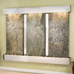Deep Creek Falls: Green Slate and Stainless Steel Trim with Squared Corners