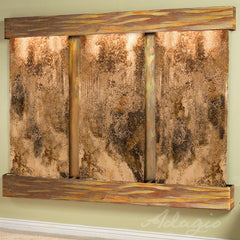 Deep Creek Falls: Magnifico Travertine and Rustic Copper Trim with Squared Corners