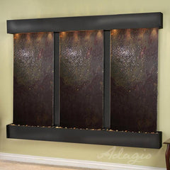 Deep Creek Falls: Multi-Color Featherstone and Blackened Copper Trim with Squared Corners