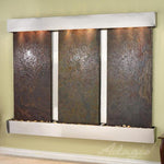 Deep Creek Falls: Multi-Color Slate and Stainless Steel Trim with Squared Corners