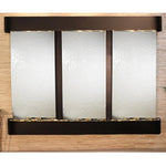 Deep Creek Falls: Silver Mirror and Blackened Copper Trim with Rounded Corners