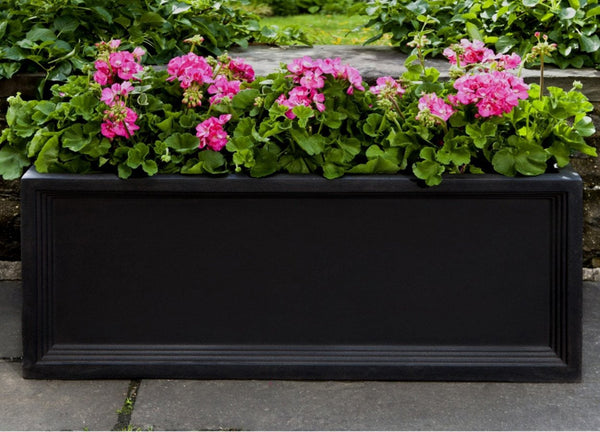 Denbigh Onyx Black Lite® Window Box Planter - Soothing Company