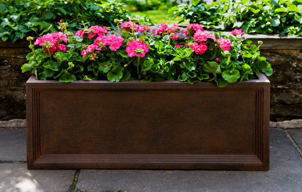 Denbigh Rust Lite® Window Box Planter - Soothing Company