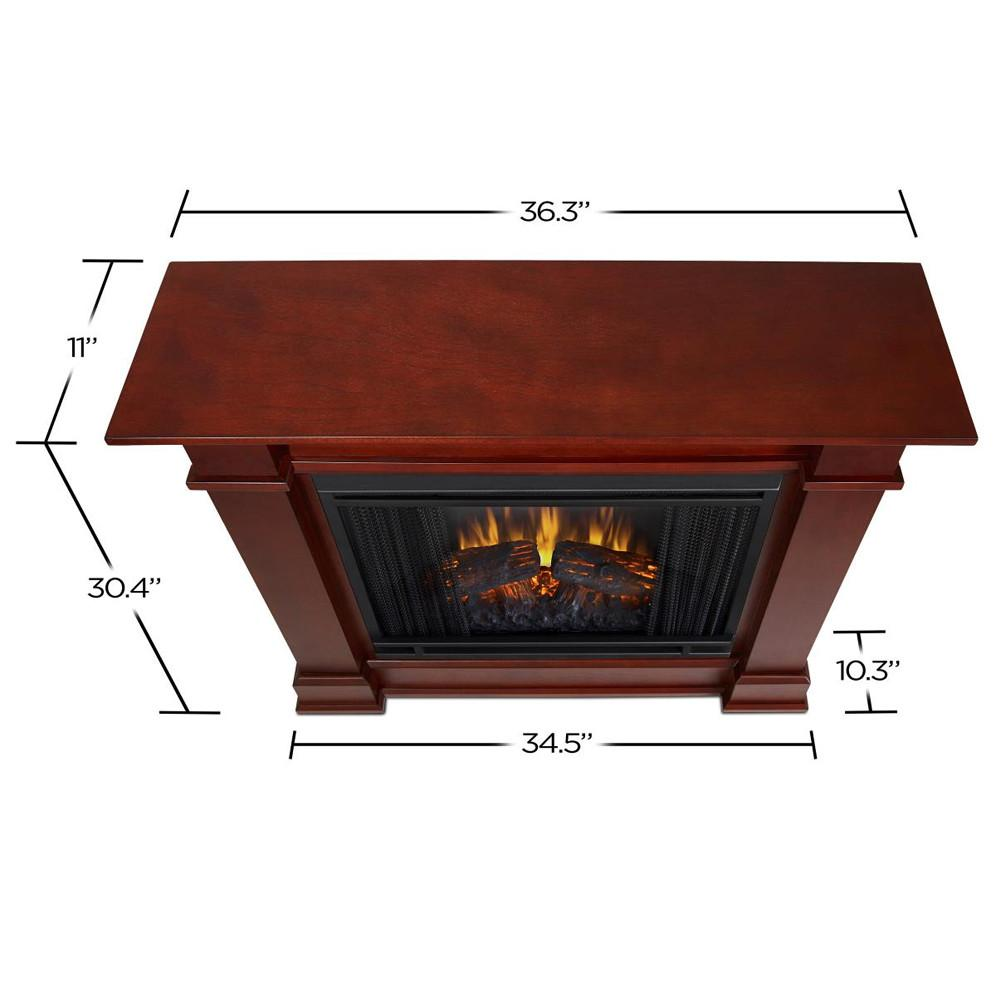 Devin Electric Fireplace in Dark Espresso - Soothing Company