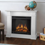 Devin Electric Fireplace in White - Ventless Fireplace Pros